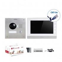 """Kit Videocitofonico Monofamiliare 7"""" Touch IP UTP CAT.5E 1.3Mpx  720p Dahua VTO2000A-VTH1550CH"""
