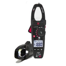 Professional amperometric clamp meters 1000A AC/DC TRMS measurements with phase detector and flashlight Uniks C122