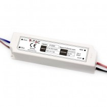 V-TAC VT-22061 60W LED slim Power Supply 12V 5A Waterproof IP67 Plastic - SKU 3234