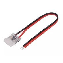 V-TAC Connettore flessibile innesto rapido per strisce LED COB di larghezza 8mm da 2 PIN e cavi a saldare - sku 2663