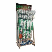 Espositore in legno completo di prodotti a 24 ganci e 2 scatole espositive Fanton 99978-01