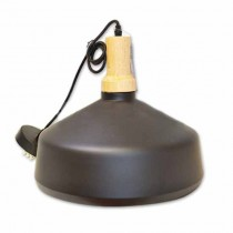 Modern Pendant Light 1MT E27 Elegant Stylish Ф350mm - Mod. VT-7545 SKU 3766 - Black Wooden
