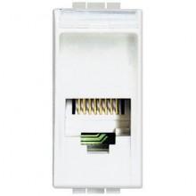 BTicino N4258 / 11N Living Light White Telephone Connector RJ11