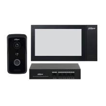 """Dahua DHI-KTP02 Kit Interphone vidéo Station extérieure IP et moniteur d'intérieur tactile 7"""" 1Mpx 720p lecteur IC PoE app mobile & cloud IP65"""