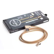 V-TAC VT-5362 cavo dati USB 2.0 Type-C 1M Diamond series in corda colore oro con connettori a L - sku 8640