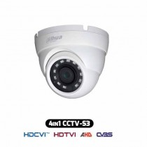 4IN1 Hybrid HDCVI Dome Camera 720p 1Mpx 2.8MM HAC-HDW1000M-S3