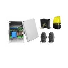 Kit d'automatisation électronique pour volet roulant, rideaux, complet avec accessoires Nologo KIT-S2SLED