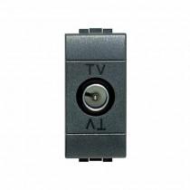 Presa TV coassiale connettore M Antracite Bticino Livilight L4202D