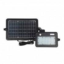 V-TAC VT-788-10 Projecteur solaire LED 10W avec sensor mouvement blanc neutre 4000K Corps noir IP65 - 8674