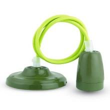 V-TAC VT-7998 Pendant Light V-TAC 1MT High Frequency porcelain lamp Holder E27 green - SKU 3805