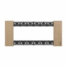 Placca Bticino Living Now 6 Moduli colore legno Rovere KA4806LM
