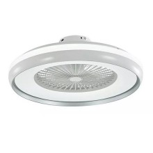V-TAC VT-5022 LED Ceiling Fan 45W AC-Motor white and grey ring body 8 Blades with 35W led lamp 3IN1 color change - sku 7935