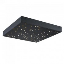 V-TAC VT-7128 8W LED designer ceiling light color changing 2in1 and dimmable square black with remote control - sku 40291