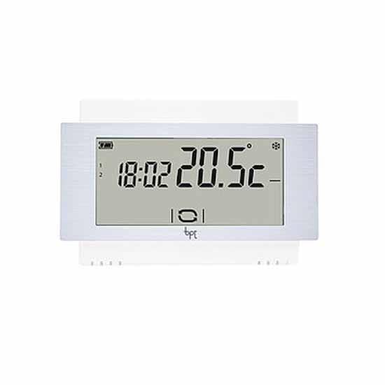 Termostato touch screen da parete 230v bianco bpt for Termostato touchscreen gsm vimar 02906