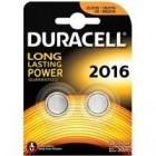 Batteria a litio Bottone Duracell DL2016 3V - Confezione da 2 pz
