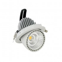 Faro da incasso LED COB orientabile 33W 24° 2650LM Φ115mm  Mod VT-2933 - SKU 1304 - Bianco Caldo 3000K