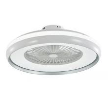 V-TAC VT-5022 LED Deckenventilator 45W AC-Motor 8-Klingen Weißer + grau ring mit 35W 3IN1 LED Lampe und Fernbedienung - sku 7935