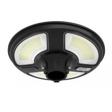 V-TAC VT-45W Lampione LED 7.5W da giardino autoalimentata a batteria con pannello solare e sensore integrato 6400K con telecomando RF IP65 - SKU 5151