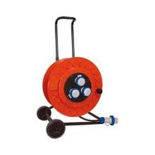 Cable reel 50m 3-sockets 2P+E 16A 230V trailer-mounted GOLIA Fanton 12160
