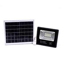 V-TAC VT-40W 40W LED Solarscheinwerfer mit IR-Fernbedienung neutralweiß 4000K Schwarzer Körper IP65 - 8574