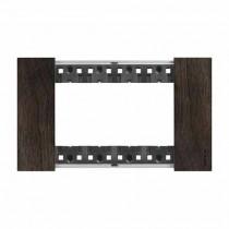 Placca Bticino Living Now 4 Moduli colore legno noce KA4804LG