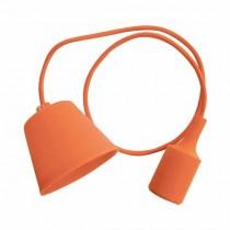 Portalampada decorativo pendente 1MT in silicone attacco E27 - Mod. VT-7228 SKU 3484 - Arancione