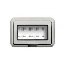 Idrobox Luna - Livinglight - Bticino Abdeckung IP55 4p weiß 24604N