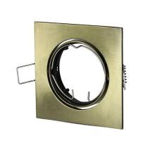 V-TAC VT-779SQ GU10-GU5.3 Fitting metallic gold square 30°Adjustable for Spotlights - SKU 8581