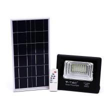V-TAC VT-25W Faro led 25W autoalimentato nero con pannello solare 12W e telecomando 6000K IP65 – sku 94006