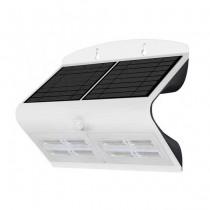V-TAC VT-767-7 lampada LED 7W pannello solare esterno IP65 + sensore PIR colore bianco - SKU 8278