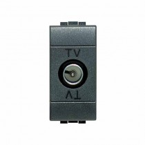 TV Coax Jacks mono-utilisateur Bticino Livilight L4202D