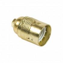 Douille de lampe E27 lisse Or métallique Fanton 62830