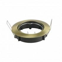 V-TAC VT-799RD portafaretto orientabile incasso rotondo colore oro satinato per lampade gu10-gu5.3 - SKU 8579