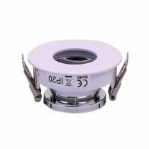 V-TAC VT-873 GU10-GU5.3 Fitting White+chrome round 15°Adjustable twist to open for Spotlights - SKU 3160