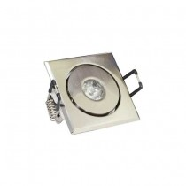 Led downlight adjustable square 1w wiith driver warm white 2700k