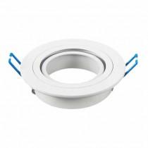 Portafaretto incasso rotondo regolabile 1*GU10 Mod. VT-782RD SKU 3599 - Bianco