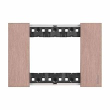 3 modules Bticino Living Now plate copper color KA4803ZM