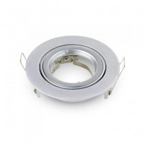 V-TAC VT-775 GU10-GU5.3 Fitting metallic grey round 15°Adjustable TWIST TO OPEN for Spotlights - SKU 3647