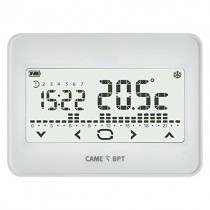 BPT TH/550 WH Wall-mounted touch screen programmable thermostat with batteries - 845AA-0010