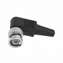 Connector bnc to screw 90 ° curved cctv