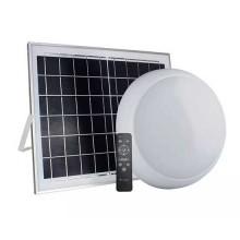 V-TAC VT-8415 Plafoniera led 15W autoalimentata a batteria con pannello solare forma circolare color change 3in1 con telecomando IP65 IK08 - SKU 7613