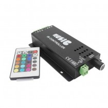 Music led controller for strip led rgb with remote control