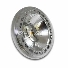 LED STRAHLER SPOT AR111 G53 15W 12V CHIP SHARP MOD. VT-1110 20 ° SKU 4061 Weiß 6000K