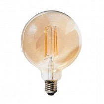 V-TAC VT-2153 Lampadina led 12,5W globo filamento E27 G125 vetro ambra bianco caldo 2200K - SKU 7456