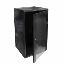 "Hanging Rack Cabinet Black RAL9004 19"" 22U 450mm"