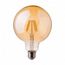 V-TAC PRO VT-296 6W Lampadina led globo filamento chip samsung E27 G95 vetro ambra bianco caldo 2200K - SKU 293