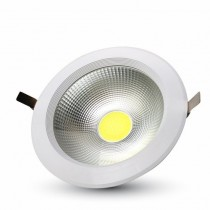 V-TAC VT-26301 40W led COB downlight round white 6000K - SKU 1278
