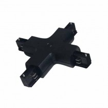 Connecteur pour Rail en aluminium 4 - X - Noir Vtac 3526