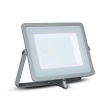 V-TAC PRO VT-100 100W Led Floodlight grey slim Chip Samsung SMD warm white 3000K - SKU 472