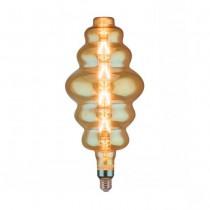 V-Tac VT-2169 Lampada rings bulb 8W E27 xl S180 filamento lineare vetro ambra 2200K Dimmable – sku 45661